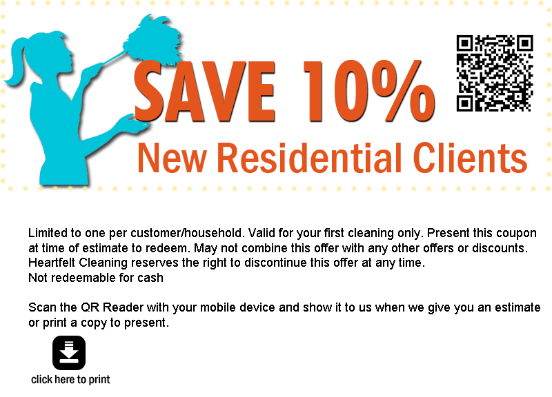 Heartfelt Cleaning Services Promotional Coupons St Louis St Charles ...